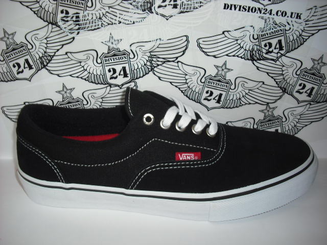 VANS Era Pro Shoes Black / White / Red