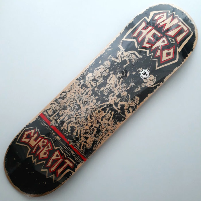 Anti Hero Skateboards - Curb Pit II - Skateboard Deck 8.50