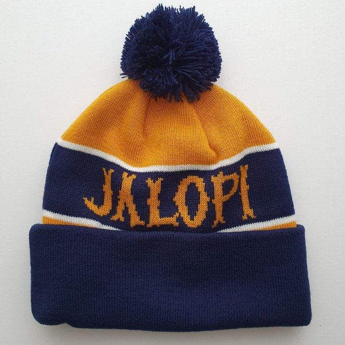 Anti Hero Skateboards - Jalopi - Pom Pom Beanie Hat - Navy/Gold