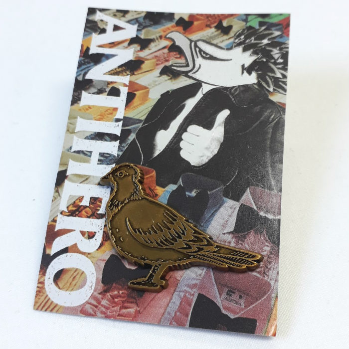 Anti Hero Skateboards - Pigeon - Lapel Pin Badge - Bronze