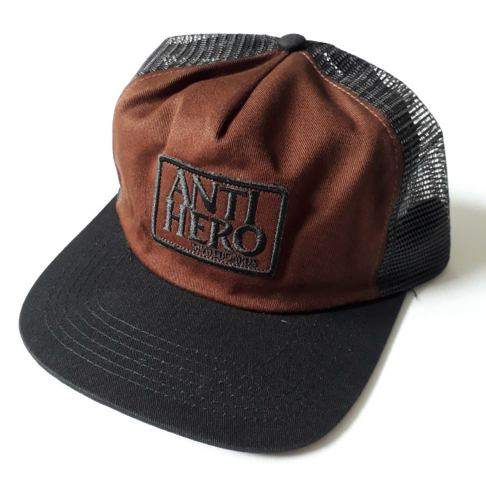 Anti Hero Skateboards - Reserve Patch Mesh Trucker Cap - Black/Brown