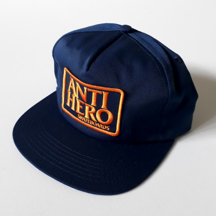 Anti Hero Skateboards - Reserve Patch - Snapback Cap - Navy/Orange