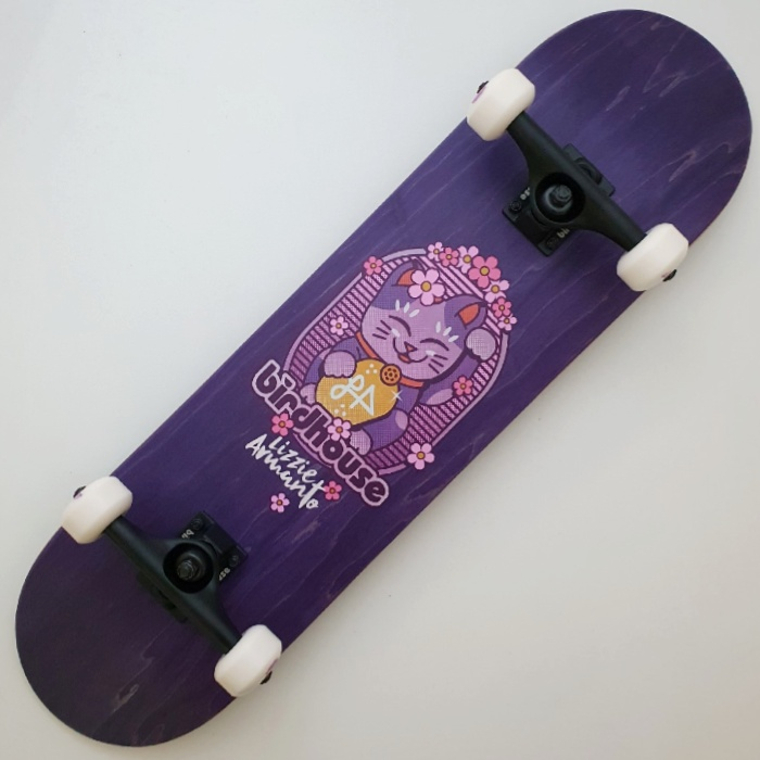 "Birdhouse Stage 3 Armanto Maneki Neko Complete Skateboard Purple 8.0/"""