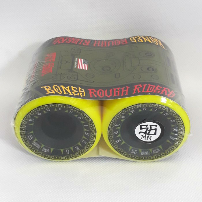 Bones Wheels - ATF Rough Riders Tank - Skateboard Wheels 56mm - Yellow