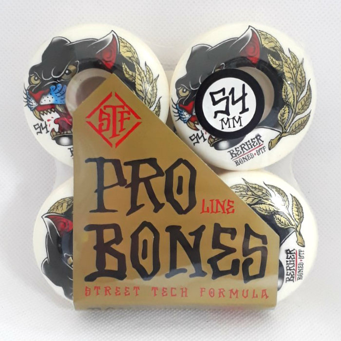 Bones Wheels - STF Berger Panther - V3 Slims Shape - Skateboard Wheels 54mm