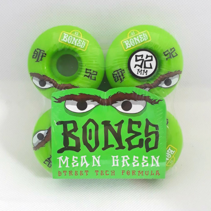 Bones Wheels - STF Mean Green - V1 Shape - Skateboard Wheels 52mm Green