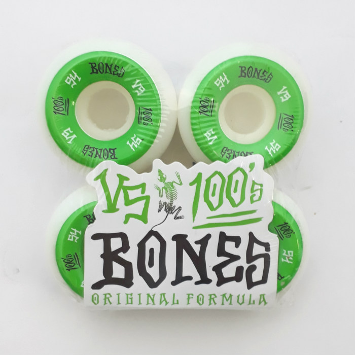 Bones Wheels - OG 100's - #1 V5 Shape - Skateboard Wheels 54mm