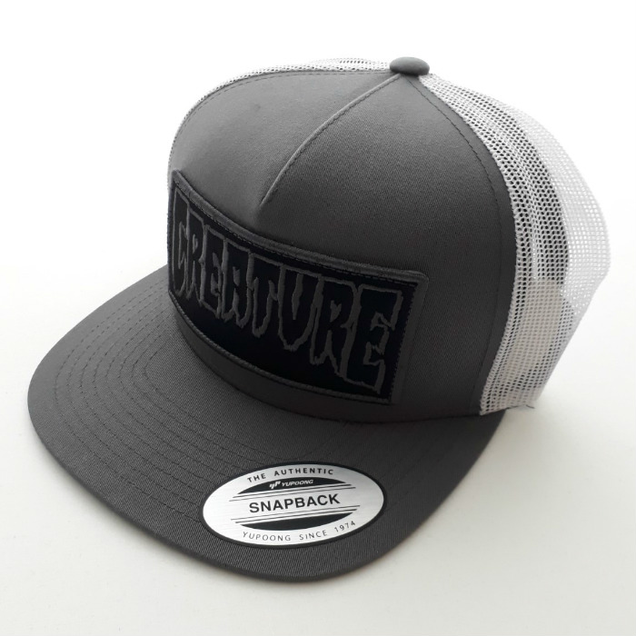 Creature Skateboards - Reverse Patch - Mesh Trucker Cap - Grey/White