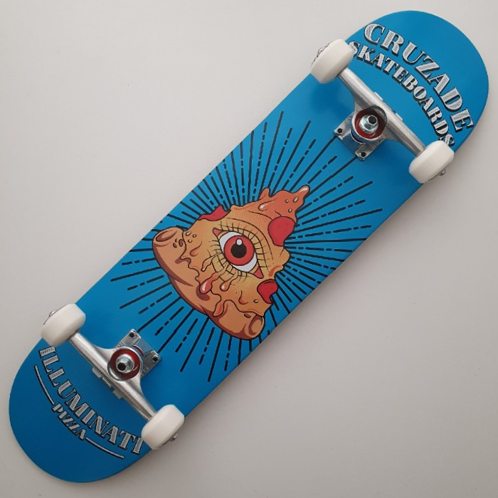 Cruzade Skateboards - Illuminati Pizza - Complete Skateboard 8.00