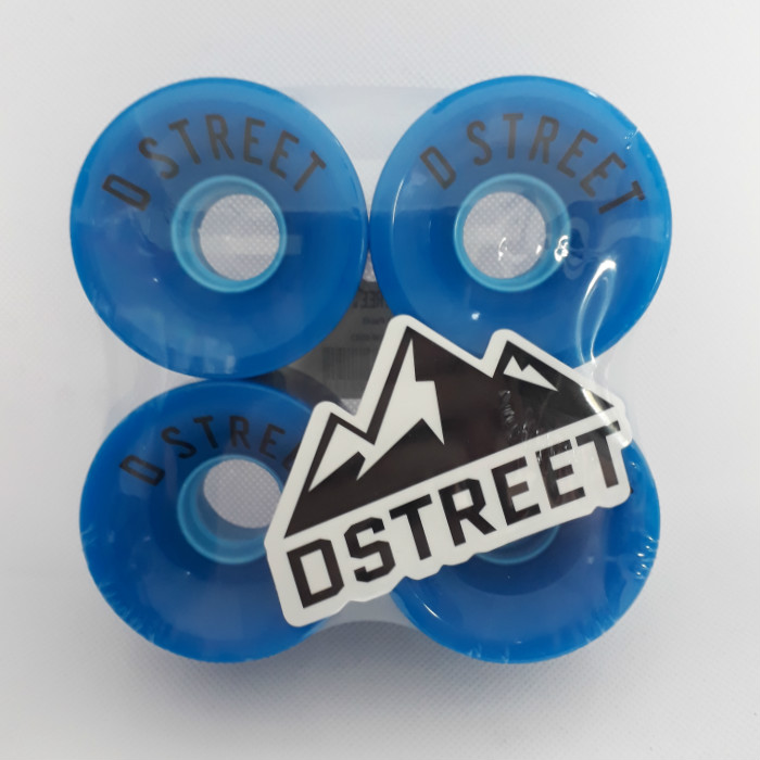 D-Street - Cents - Skateboard Wheels - 59mm / 78a - Blue