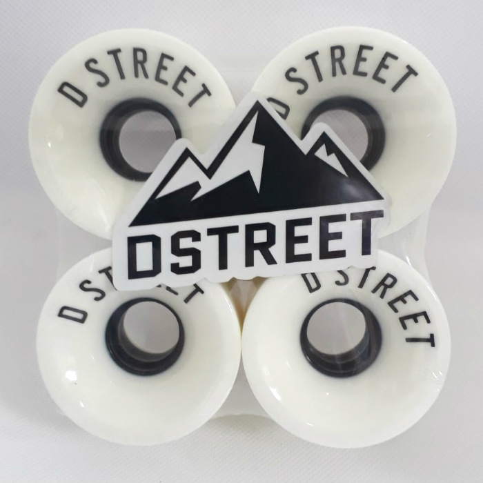 D-Street - Cents - Skateboard Wheels - 59mm / 78a - White