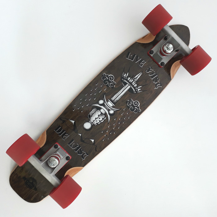 D-Street - Rose Live Fast Bamboo - Complete Cruiser Skateboard