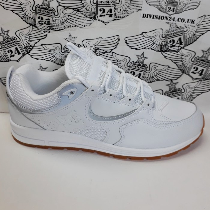 DC Shoe Co - Kalis Lite Shoes - White/Silver