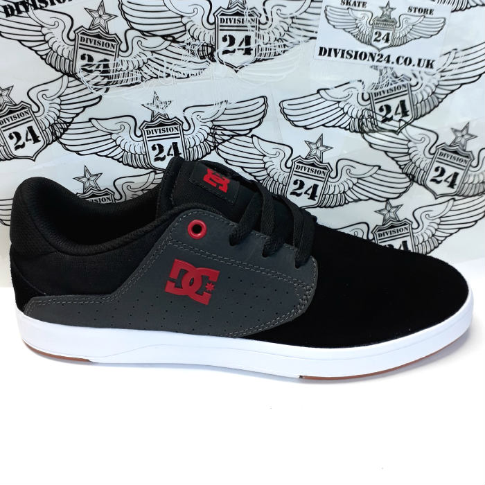 DC Shoe Co - Plaza TC S Shoes - Black/Dk Grey/Athletic Red