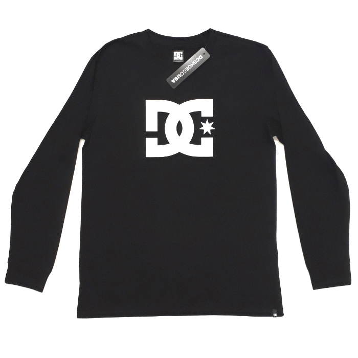 DC Shoe Co - Star Logo - Long Sleeve T-Shirt - Black
