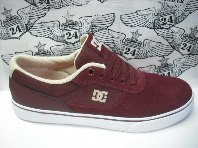 DC Switch S Shoes Maroon