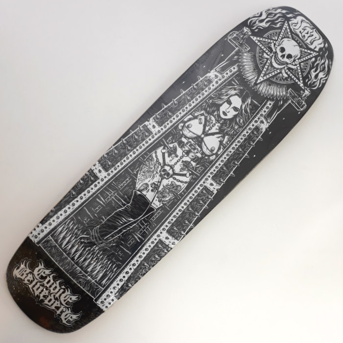 Death Skateboards - Belvedere Maiden - Shaped Skateboard Deck 9.00