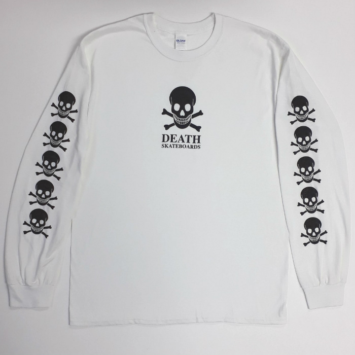 Death Skateboards - OG Skull - Long Sleeve T-Shirt - White