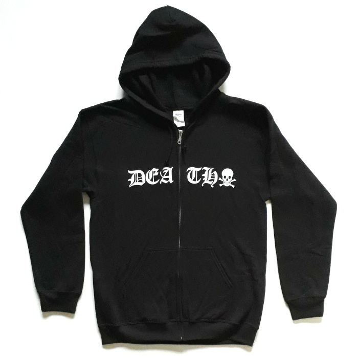 Death Skateboards - Old English - Zip Hooded Sweatshirt - Black