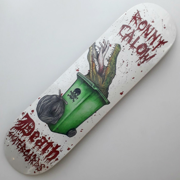 Death Skateboards - Ronny Calow Crocodile - Skateboard Deck 8.25
