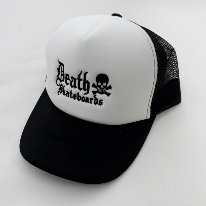Death Skateboards - Old English - Mesh Trucker Cap - Black/White