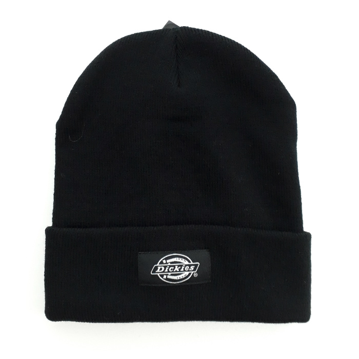 Dickies-Yonkers-Cuff-Beanie-Hat-Black-and-Grey-A