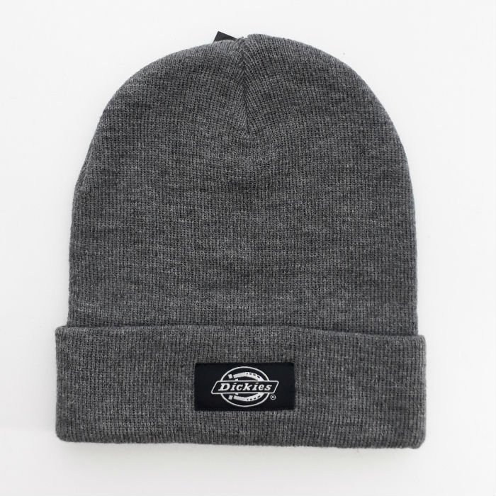 Dickies-Yonkers-Cuff-Beanie-Hat-Black-and-Grey