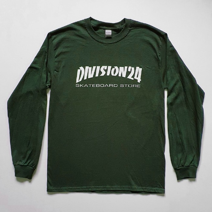 Division 24 Skate Store - Banco - Long Sleeve T-Shirt - Forest Green