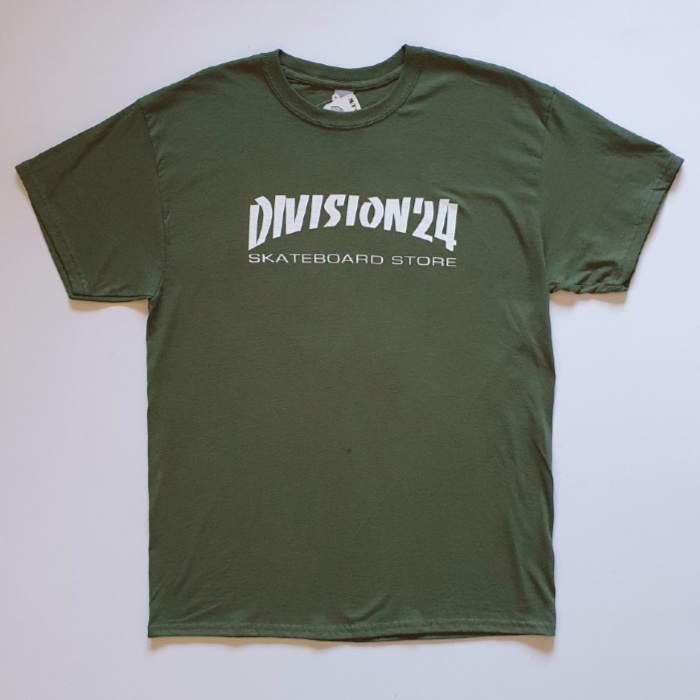 Division 24 Skate Store - Banco T-Shirt - Military Green