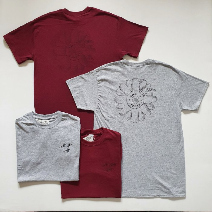 Division 24 Skate Store - Forever - T-Shirt - Heather Grey / Maroon