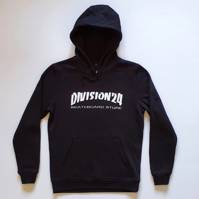 Division 24 Skate Store - Banco - Pullover Hooded Sweatshirt - Black