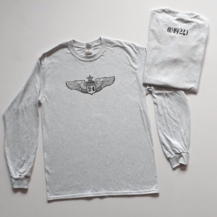 Division 24 Skate Store - OG Wings Logo - Long Sleeve T-Shirt - Ash Grey