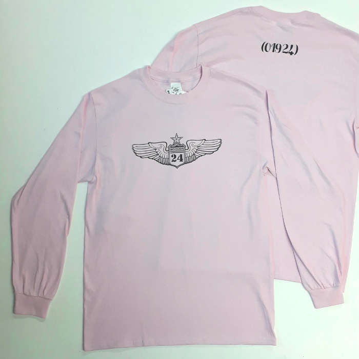 Division 24 Skate Store - OG Wings Logo - Long Sleeve T-Shirt - Light Pink