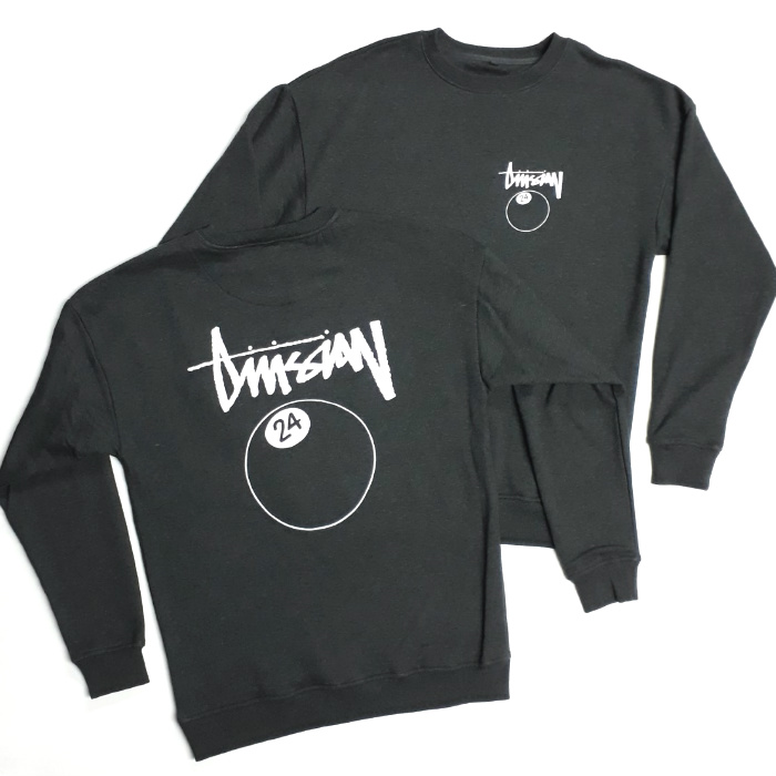 Division 24 Skate Store - Pool Rules - Pullover Crew Jumper - Charcoal Grey