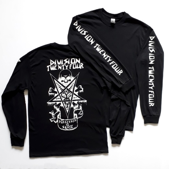 Division 24 Skate Store - Venice - Long Sleeve T-Shirt - Black
