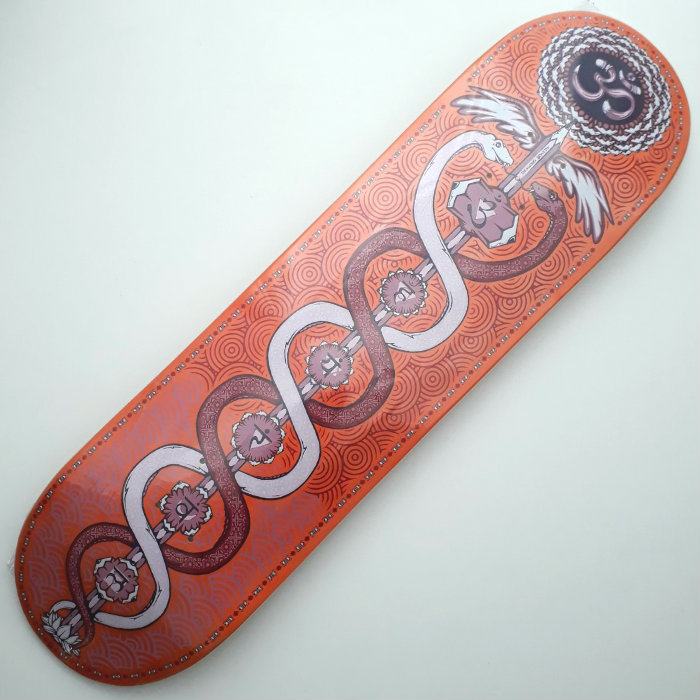 Drawing Boards - Caduceus - Skateboard Deck 8.25