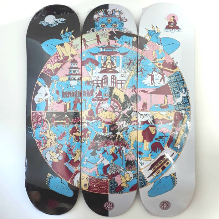Drawing Boards - The Wheel Of Life - Skateboard Deck 8.25