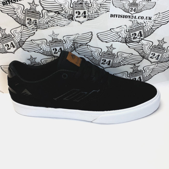 Emerica - Reynolds Low Vulc Skateboard Shoes - Black/Brown