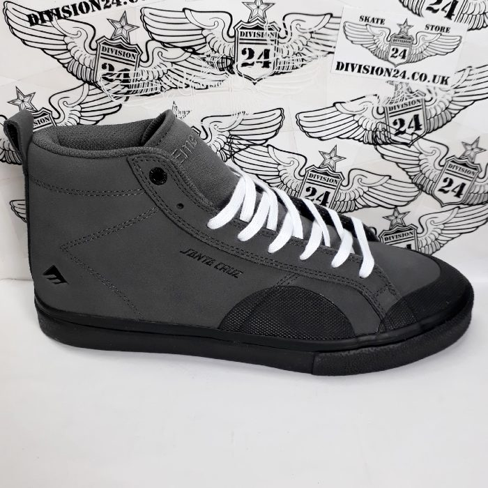 Emerica x Santa Cruz - Omen Hi Shoes - Grey/Black
