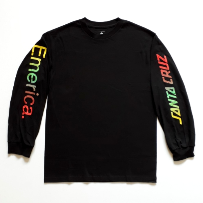 Emerica-x-Santa-Cruz-Skateboards-Logo-Drop-Long-Sleeve-T-Shirt-Black
