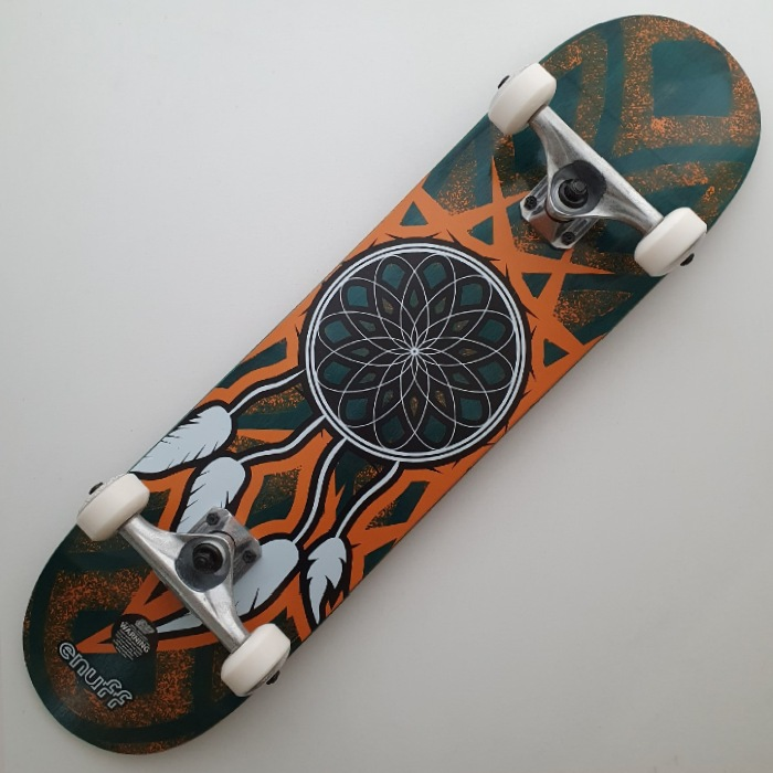 Enuff Skateboards - Dreamcatcher - Complete Skateboard 7.75 - Teal/Orange
