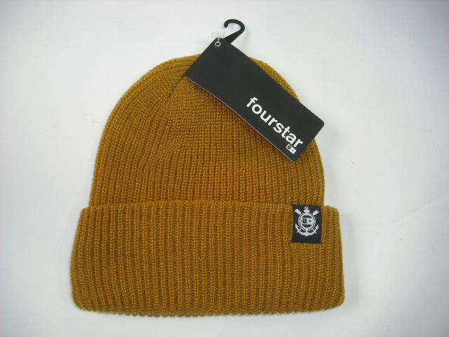 Fourstar Anchor Lable Cuff Beanie Hat