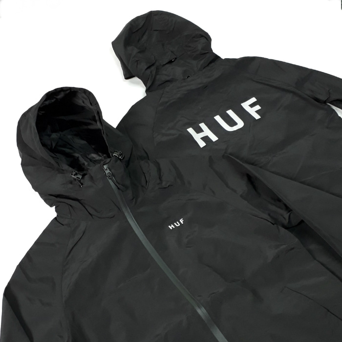 HUF-Standard-Shell-Jacket-Black-Close
