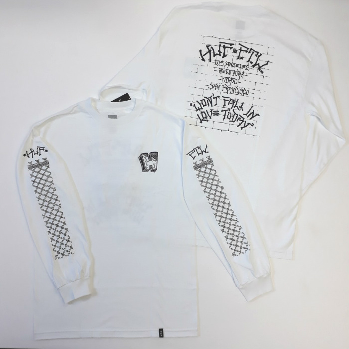 HUF Worldwide - Pavillion - Long Sleeve T-Shirt - White