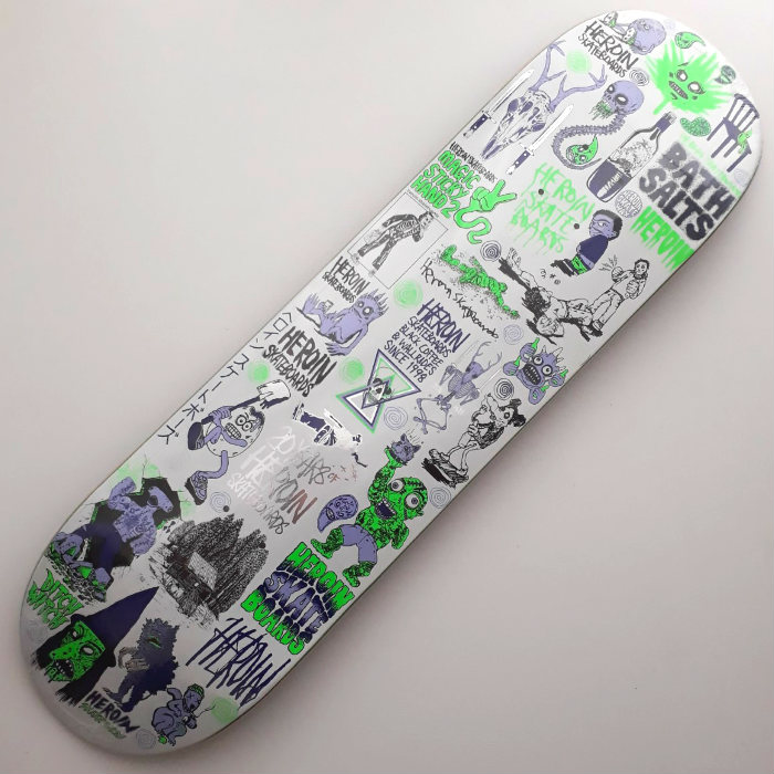 Heroin Skateboards - 20 Years Part 4 - Skateboard Deck 8.50