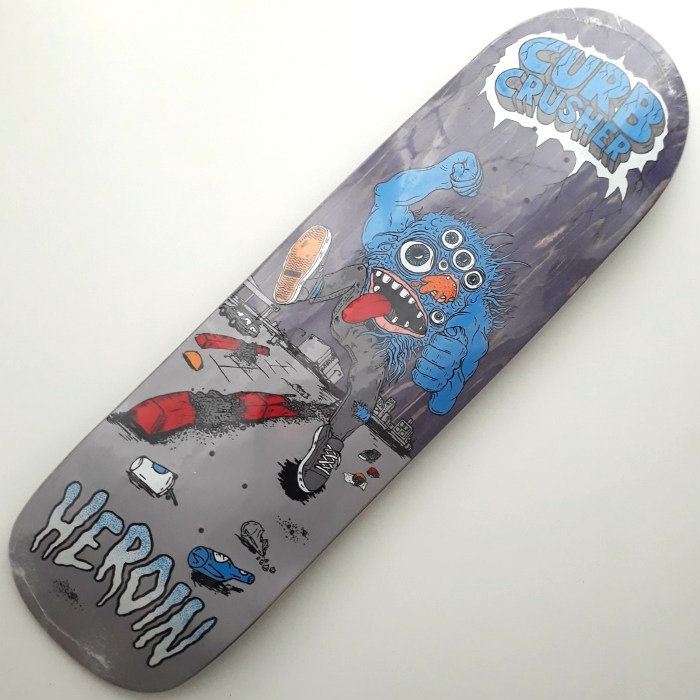 Heroin Skateboards - Curb Crusher - Shaped Skateboard Deck 9.00