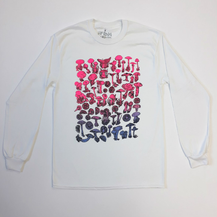 Heroin Skateboards - Field Study - Long Sleeve T-Shirt - White