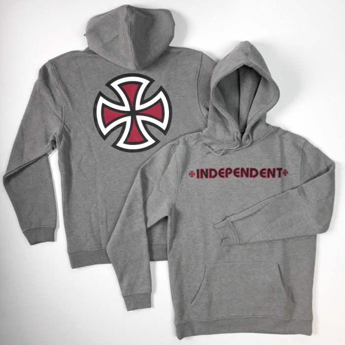 Independent Trucks - Bar Cross - Hooded Sweatshirt - Dark Heather