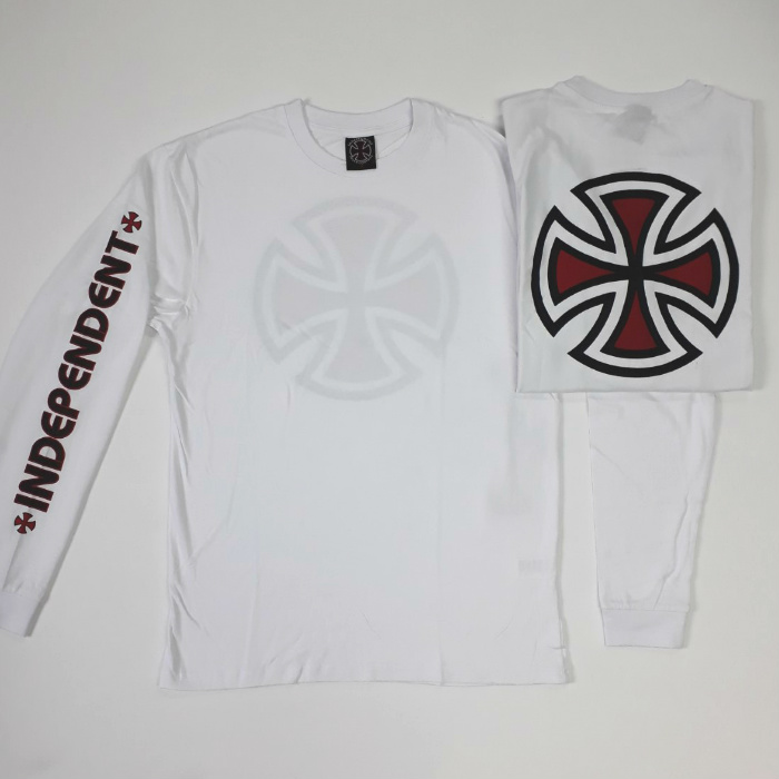 Independent Trucks - Bar Cross - Long Sleeved T-Shirt - White