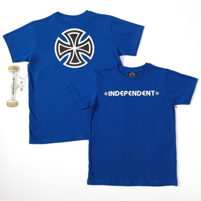 Independent Trucks - Bar Cross - YOUTH T-Shirt - Royal